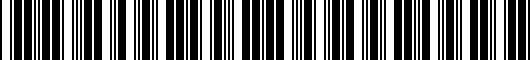 Barcode for PT2080312020
