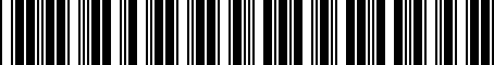 Barcode for PT21842061