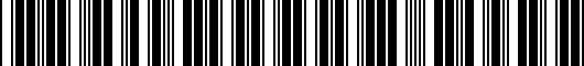 Barcode for PT9081813020